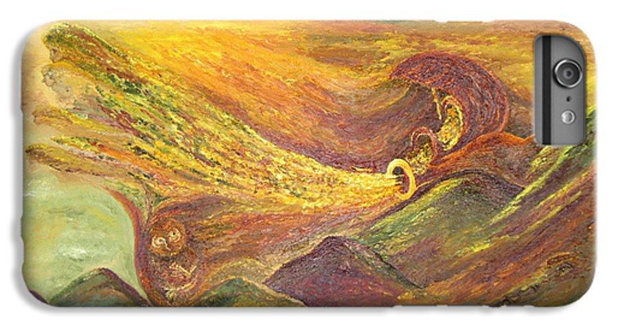 Autumn IPhone 6 Plus Case featuring the painting The Autumn Music Wind by Karina Ishkhanova