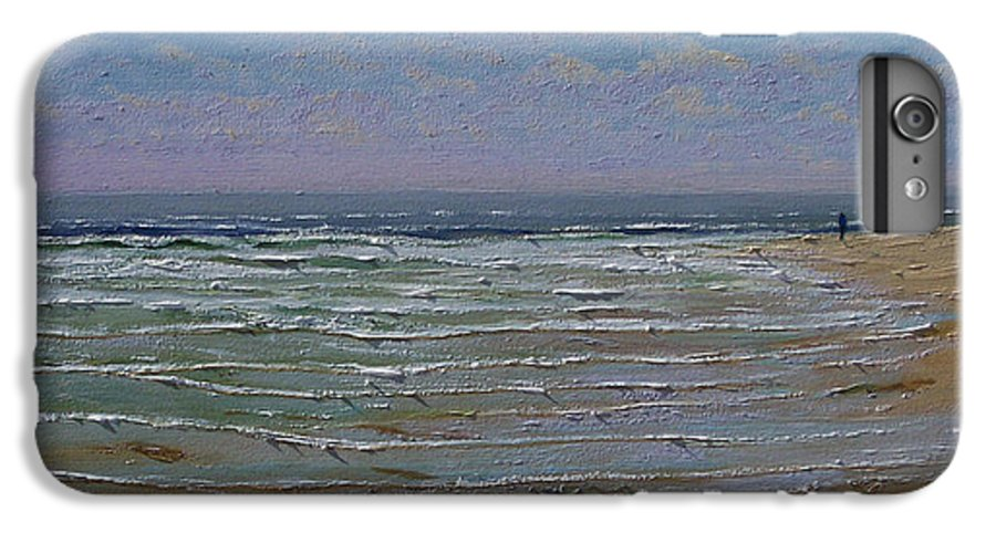 Seascape IPhone 6 Plus Case featuring the painting The Beachcomber by Frank Wilson