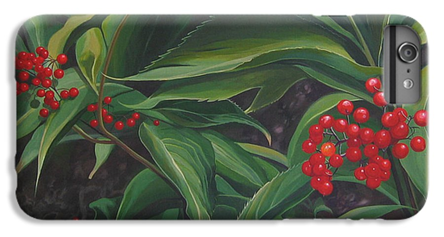 Berries IPhone 6 Plus Case featuring the painting The Berries On Guanella Pass by Hunter Jay