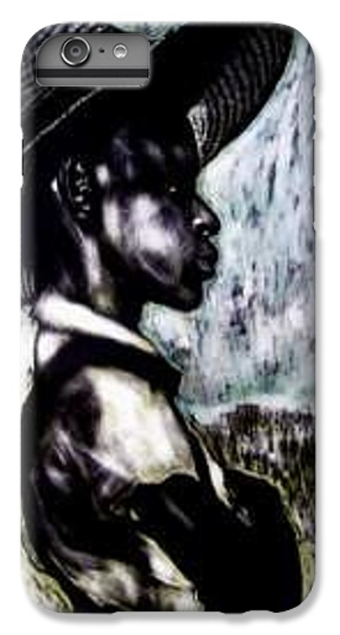 Portrait IPhone 6 Plus Case featuring the mixed media The Berry Picker by Chester Elmore