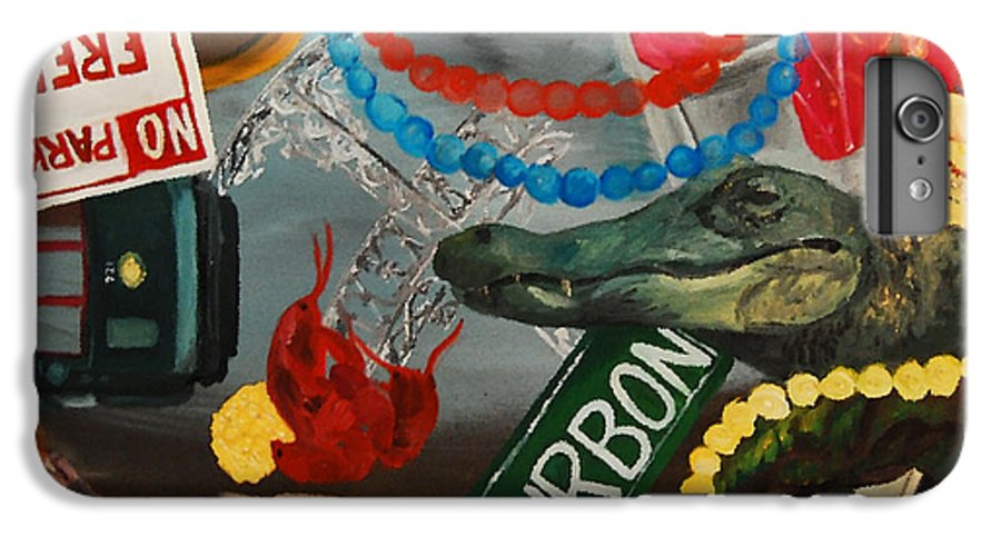 Louisiana IPhone 6 Plus Case featuring the painting The Big Easy by Lauren Luna