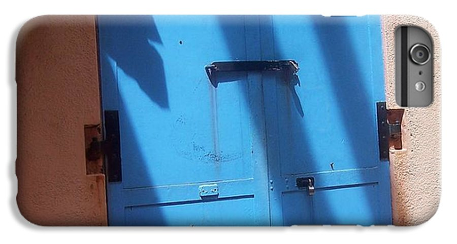 Architecture IPhone 6 Plus Case featuring the photograph The Blue Door by Debbi Granruth