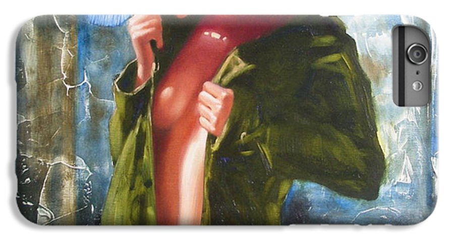 Art IPhone 6 Plus Case featuring the painting The Blue Hat by Sergey Ignatenko