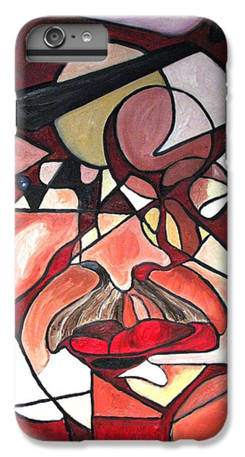 Abstract IPhone 6 Plus Case featuring the painting The Brain Surgeon by Patricia Arroyo