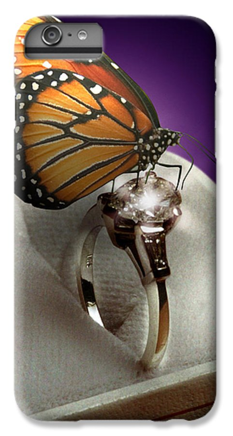 Fantasy IPhone 6 Plus Case featuring the photograph The Butterfly And The Engagement Ring by Yuri Lev