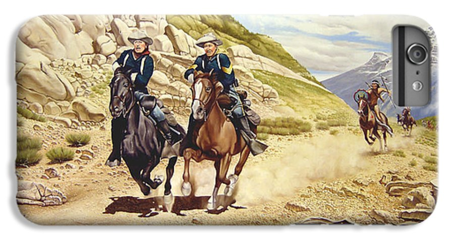 Western IPhone 6 Plus Case featuring the painting The Chase by Marc Stewart