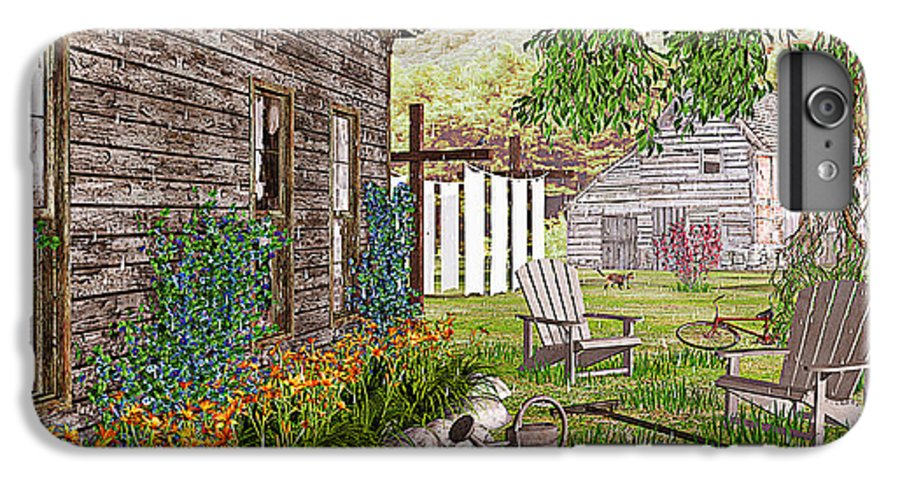 Adirondack Chair IPhone 6 Plus Case featuring the photograph The Chicken Coop by Peter J Sucy