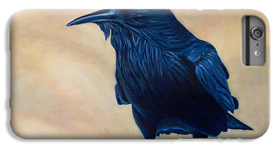 Raven IPhone 6 Plus Case featuring the painting The Conversation by Brian Commerford