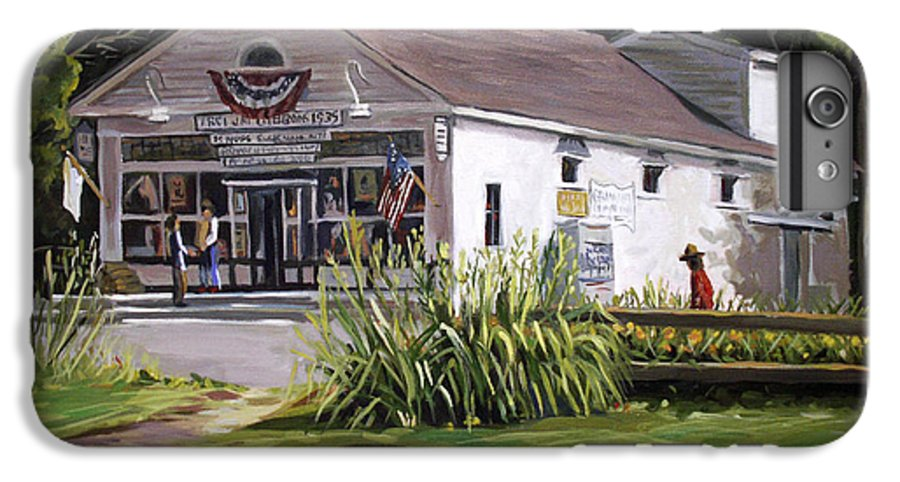 Buildings IPhone 6 Plus Case featuring the painting The Country Store by Nancy Griswold