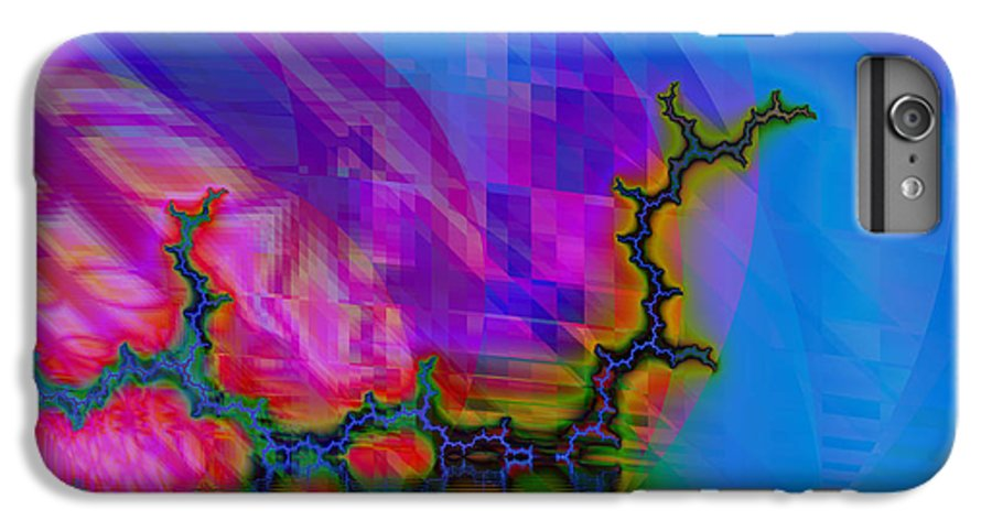 Fractal IPhone 6 Plus Case featuring the digital art The Crawling Serpent by Frederic Durville
