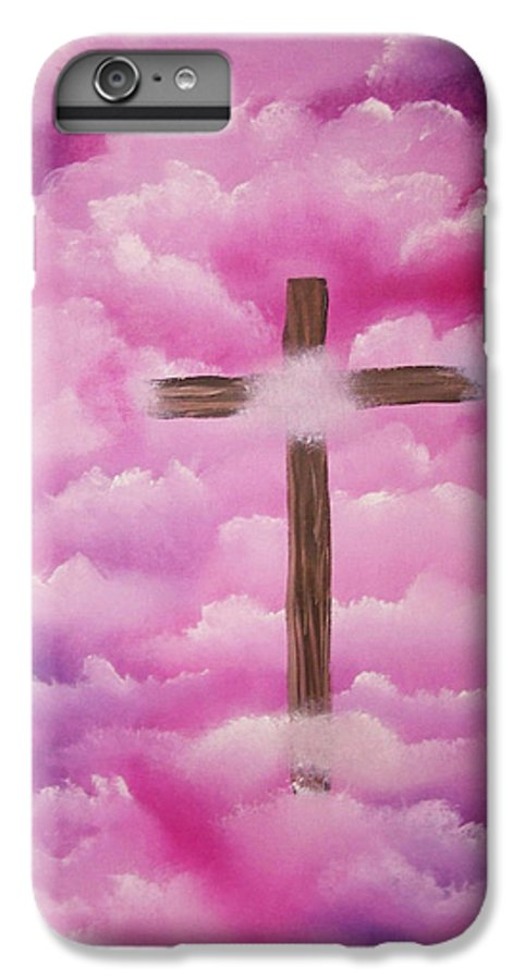 Cross Artwork IPhone 6 Plus Case featuring the painting The Cross Of Redemption by Laurie Kidd
