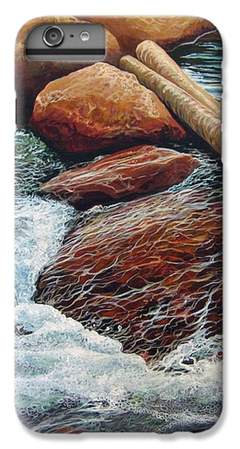 Stream IPhone 6 Plus Case featuring the painting The Crossing by Hunter Jay