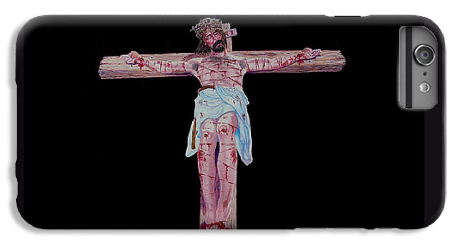 Crucifixion IPhone 6 Plus Case featuring the painting The Crucifixion by Stan Hamilton