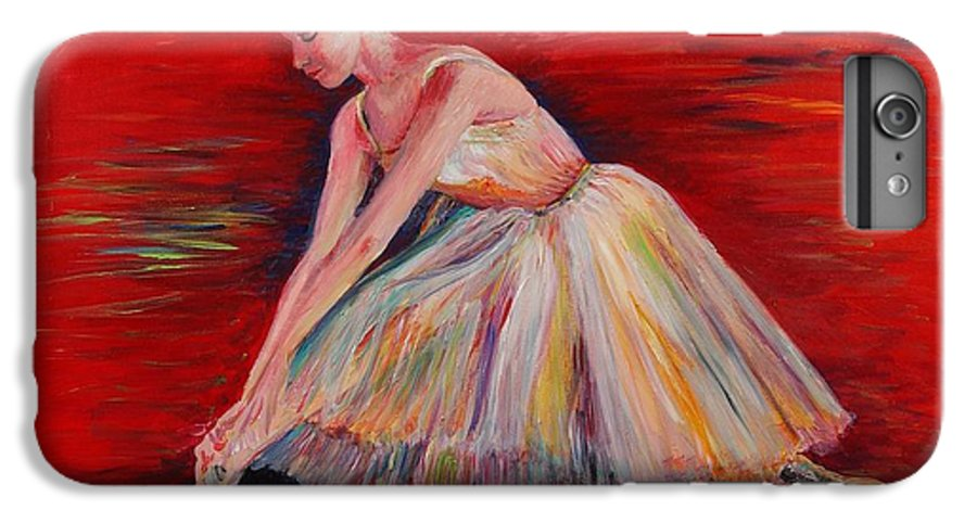 Dancer IPhone 6 Plus Case featuring the painting The Dancer by Nadine Rippelmeyer