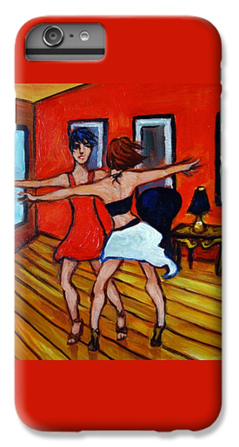 Dancers IPhone 6 Plus Case featuring the painting The Dancers by Valerie Vescovi