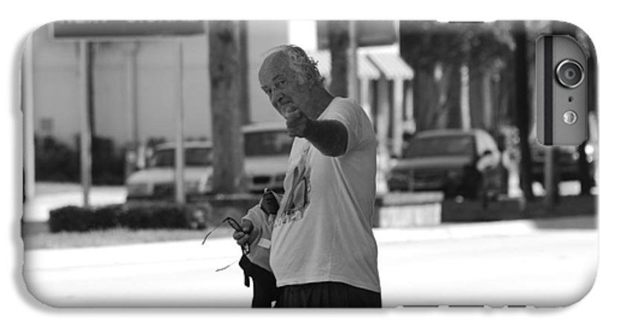 Black And White IPhone 6 Plus Case featuring the photograph The Devil Man by Rob Hans
