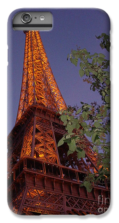Tower IPhone 6 Plus Case featuring the photograph The Eiffel Tower Aglow by Nadine Rippelmeyer