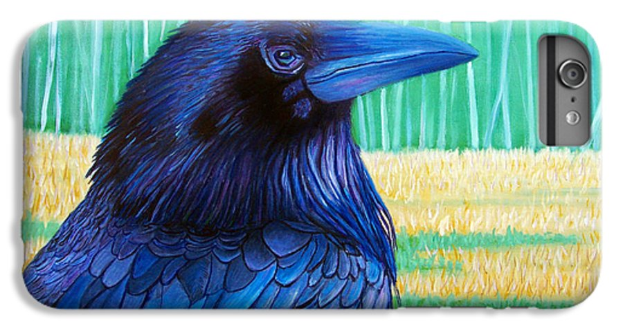 Raven IPhone 6 Plus Case featuring the painting The Field Of Dreams by Brian Commerford