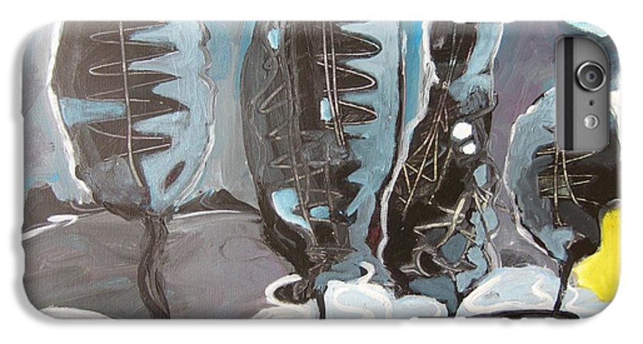 Abstract Paintings IPhone 6 Plus Case featuring the painting The Full Moon by Seon-Jeong Kim