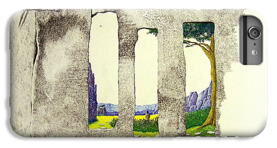 Imaginary Landscape. IPhone 6 Plus Case featuring the painting The Garden by A Robert Malcom