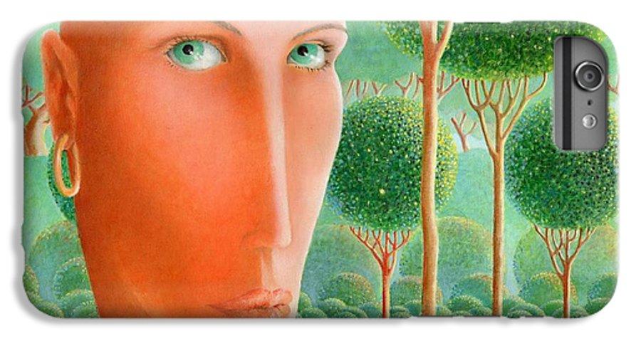 Giuseppe Mariotti IPhone 6 Plus Case featuring the painting The Garden by Giuseppe Mariotti