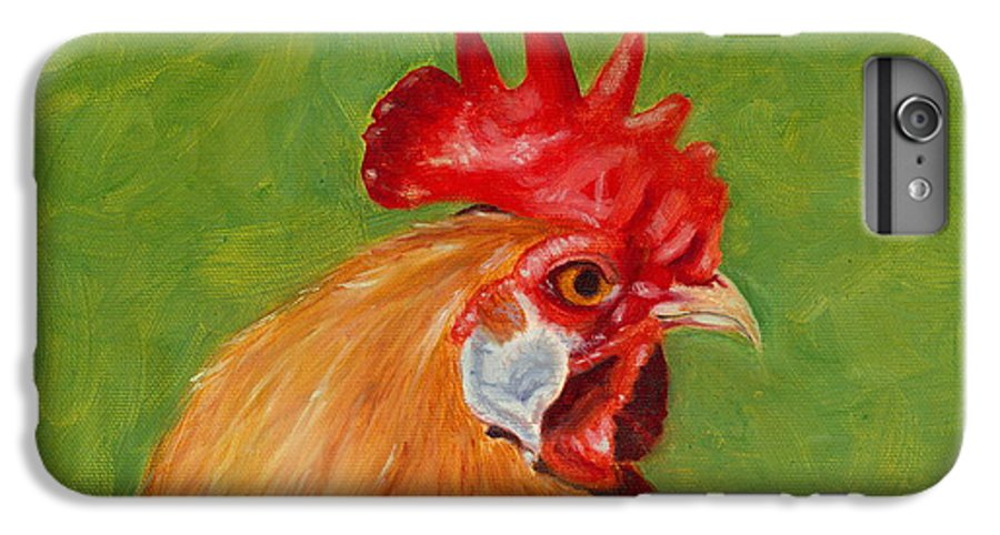 Rooster IPhone 6 Plus Case featuring the painting The Gladiator by Paula Emery
