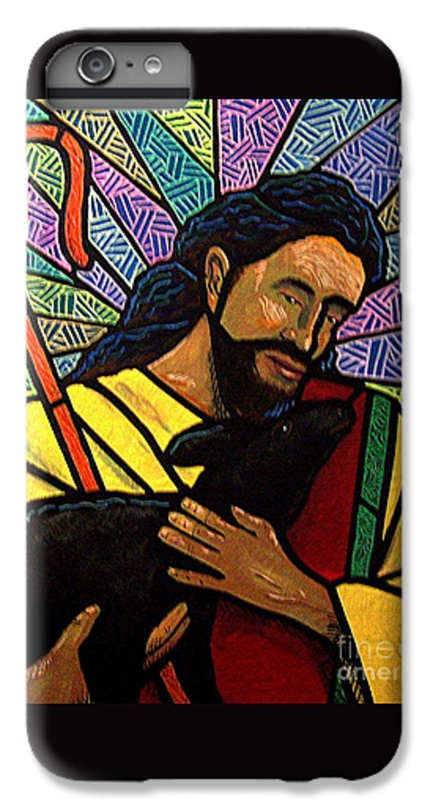 Jesus IPhone 6 Plus Case featuring the painting The Good Shepherd - Practice Painting One by Jim Harris