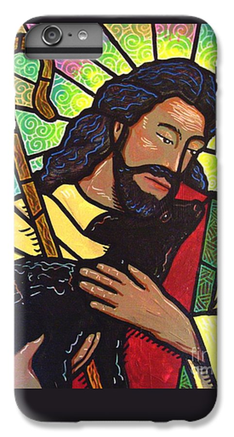 Jesus IPhone 6 Plus Case featuring the painting The Good Shepherd - Practice Painting Two by Jim Harris