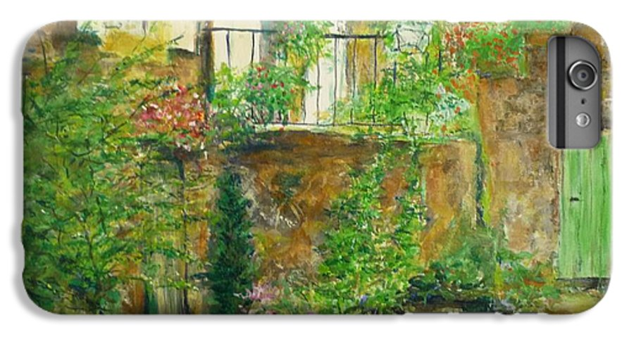 Stone IPhone 6 Plus Case featuring the painting The Green Door by Lizzy Forrester