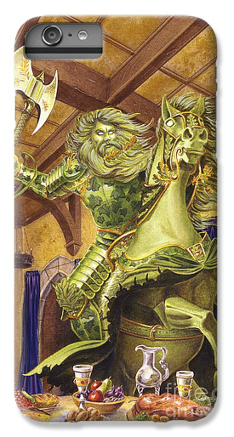 Fine Art IPhone 6 Plus Case featuring the painting The Green Knight by Melissa A Benson