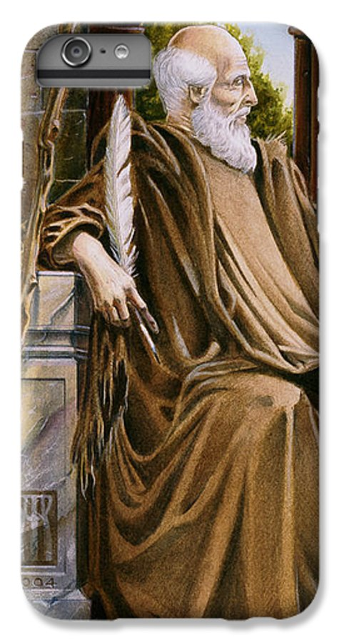Wise Man IPhone 6 Plus Case featuring the painting The Hermit Nascien by Melissa A Benson