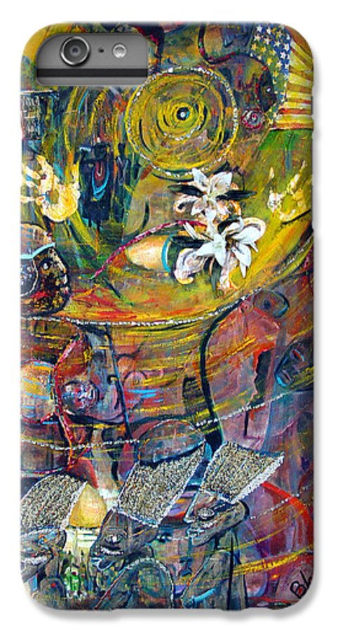 Figures IPhone 6 Plus Case featuring the painting The Journey by Peggy Blood