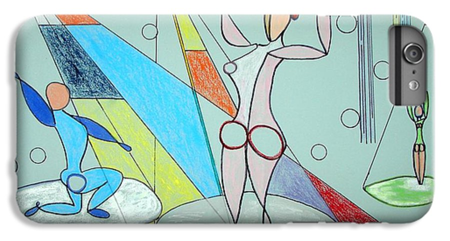 Juggling IPhone 6 Plus Case featuring the drawing The Jugglers by J R Seymour