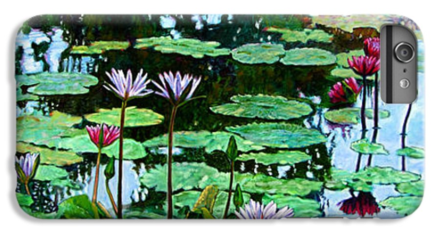 Landscape IPhone 6 Plus Case featuring the painting The Love Of Peace by John Lautermilch