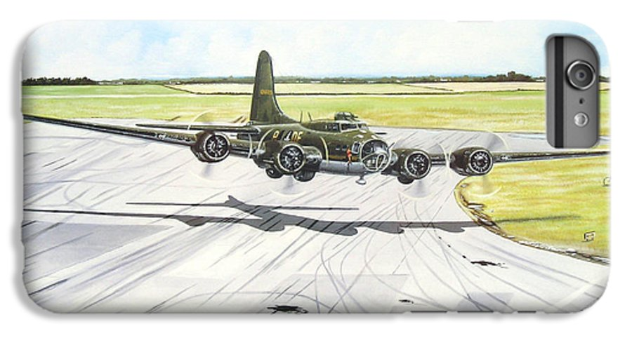 Military IPhone 6 Plus Case featuring the painting The Memphis Belle by Marc Stewart