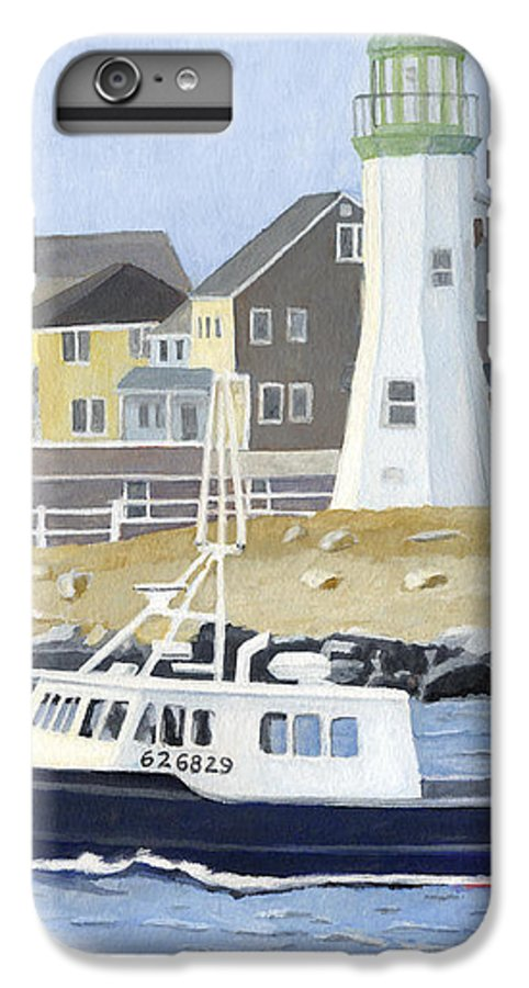 Fishingboat IPhone 6 Plus Case featuring the painting The Michael Brandon by Dominic White