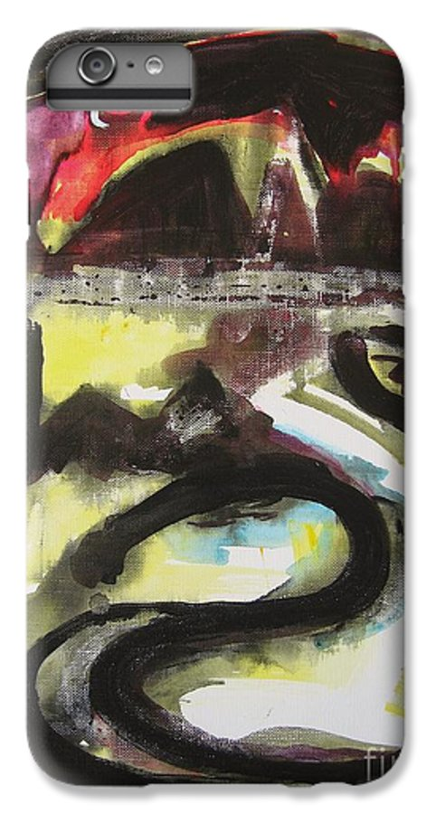Abstract Paintings IPhone 6 Plus Case featuring the painting The Moon Compassionate by Seon-Jeong Kim