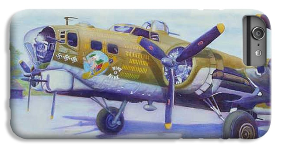 B-17 IPhone 6 Plus Case featuring the painting The Nine O Nine by Scott Robertson