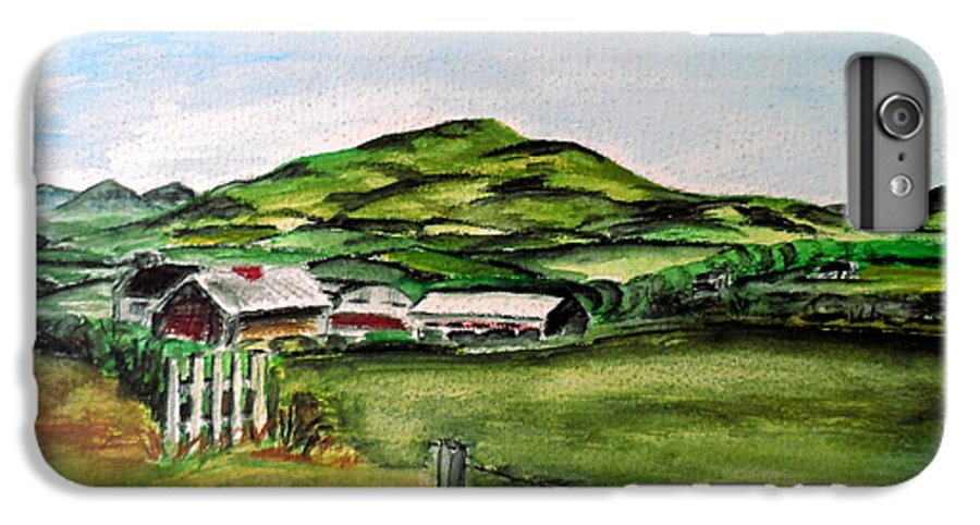 Landscape IPhone 6 Plus Case featuring the painting The Old Farm by Alan Hogan