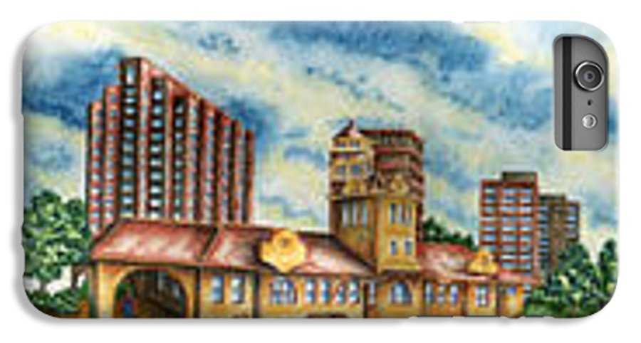 Cityscape IPhone 6 Plus Case featuring the painting The Old Train Station  by Ragon Steele
