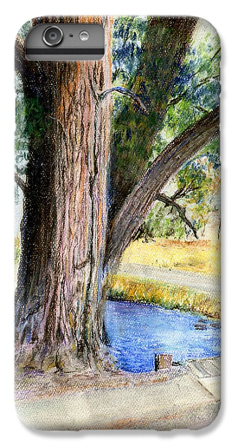 Tree IPhone 6 Plus Case featuring the pastel The Old Tree by Arline Wagner