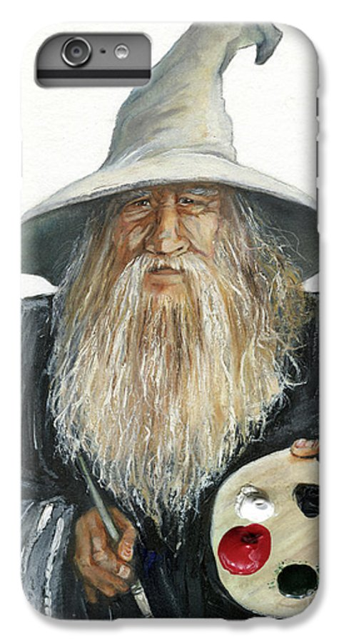 Wizard IPhone 6 Plus Case featuring the painting The Painting Wizard by J W Baker