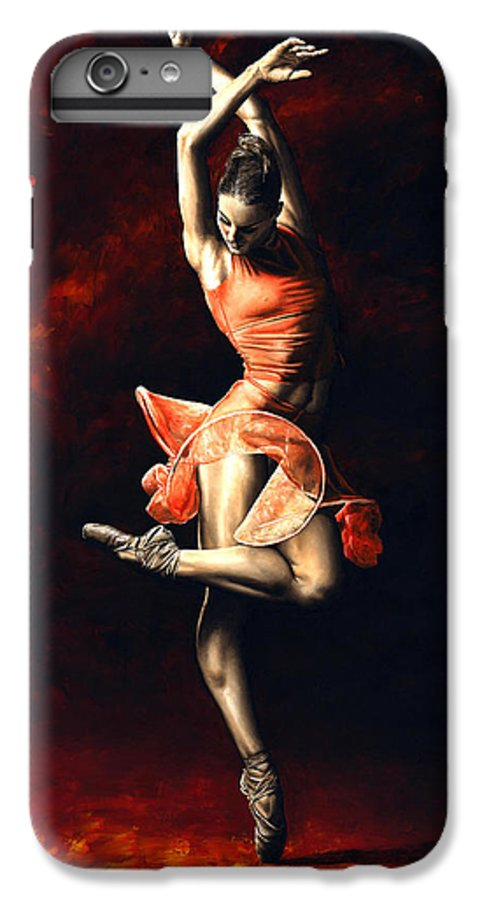 Dancer IPhone 6 Plus Case featuring the painting The Passion Of Dance by Richard Young