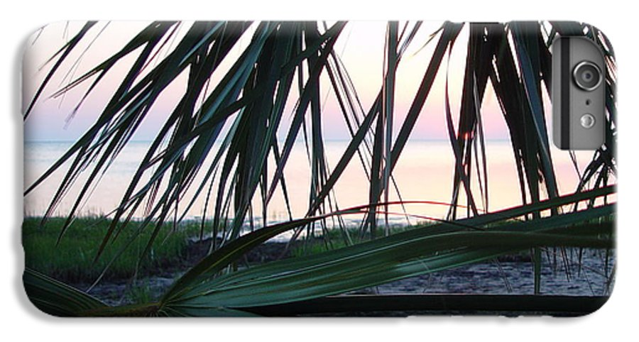 Palms IPhone 6 Plus Case featuring the painting The Peeking Palms by Debbie May
