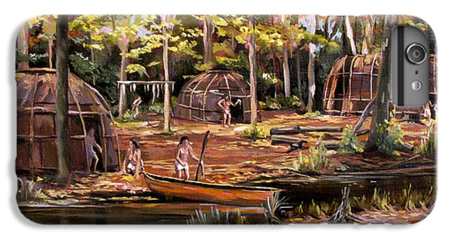 Institute Of American Indian IPhone 6 Plus Case featuring the painting The Pequots by Nancy Griswold