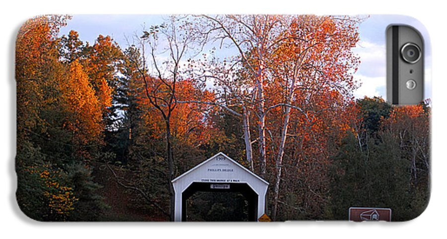 Landscape IPhone 6 Plus Case featuring the photograph The Phillips Covered Bridge by John McAllister