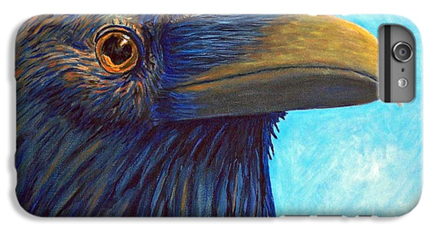 Raven IPhone 6 Plus Case featuring the painting The Prophet by Brian Commerford