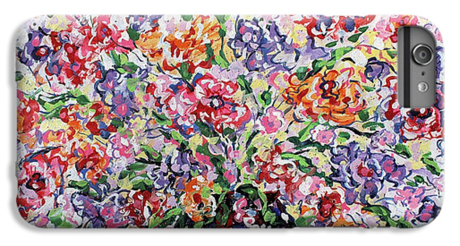 Flowers IPhone 6 Plus Case featuring the painting The Rainbow Flowers by Leonard Holland