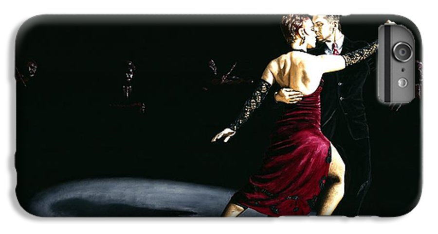 Tango IPhone 6 Plus Case featuring the painting The Rhythm Of Tango by Richard Young