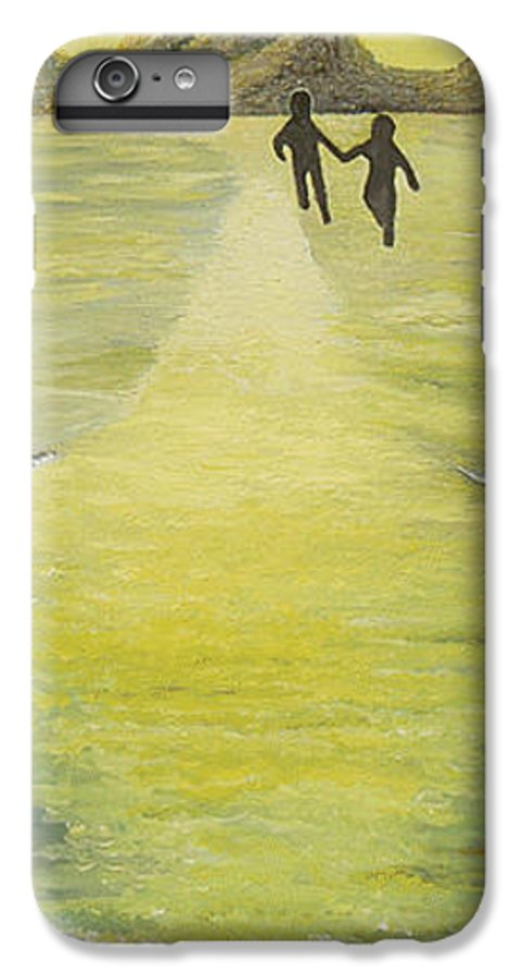 Soul IPhone 6 Plus Case featuring the painting The Road In The Ocean Of Light by Karina Ishkhanova